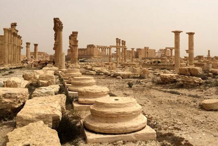 Photo: Destruction at the World Heritage site of Palmyra in Syria (file). Credit: UNESCO