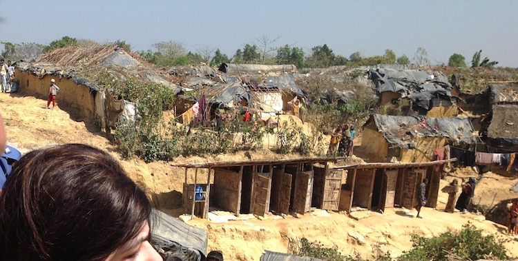 Photo: Kutupalong Refugee Camp in Cox's Bazar, Bangladesh. The camp is one of three, which house up to 300,000 Rohingya people fleeing inter-communal violence in Burma. Credit: Wikimedia Commons
