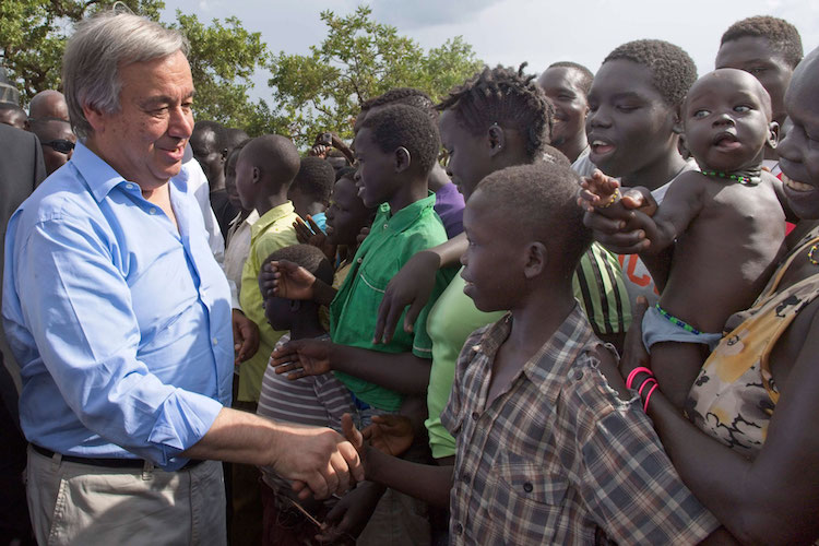 Photo: UN Secretary-General meets South Sudanese refugees during a visit to Imvepi settlement in northern Uganda in June 2017. UN Photo/Mark Gart
