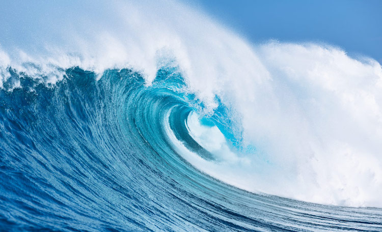 Photo: Ocean wave. Credit: blueeconomyconference.go.ke