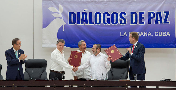 Photo: UN Secretary-General Attends Ceremony for Colombian Ceasefire Agreement, Havana. Credit: UN Photo/Eskinder Debebe