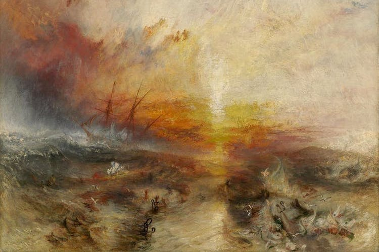 Photo: The Slave Ship by J.M.W. Turner depicts the Zong massacre. Credit: Wikimedia