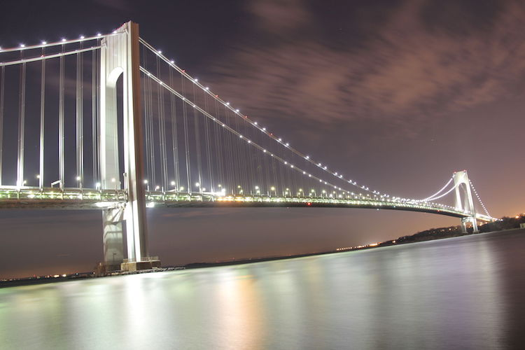Photo: The Verrazano-Narrows Bridge, one of the world's longest suspension bridges, connects Brooklyn and Staten Island. Credit: Wikimedia Commons.
