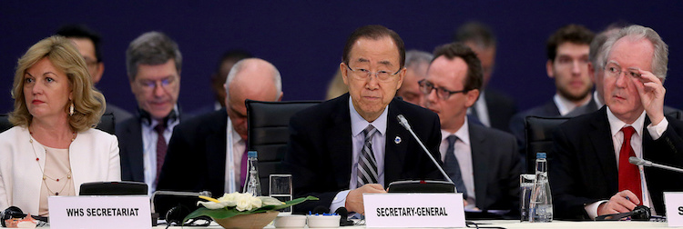 "Photo: High-Level Leaders' Roundtable on ""Managing Risks and Crises Differently"". Source: WHS"
