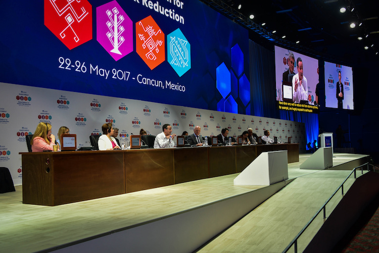 Photo: The 2017 Global Platform for Disaster Risk Reduction conference was held in Cancun, Mexico, from May 22 to 26. Credit: UNISDR