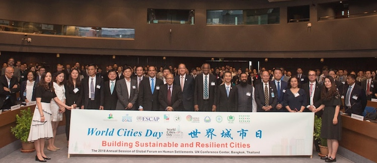 Photo: Participants in the opening session. Credit: Global Forum on Human Settlements.