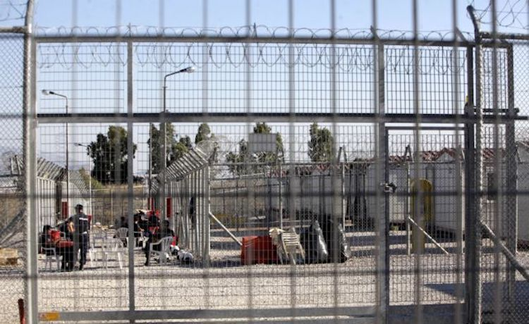 Photo: A detention camp for immigrants and asylum seekers in Greece. Source. Human Rights Watch.