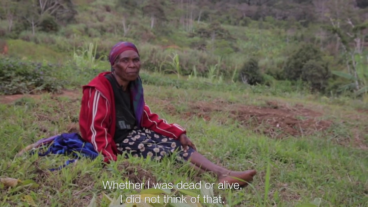 Photo: Snapshot of a film: Spears to semi-automatics: The human cost of conflict in Papua New Guinea Highlands. Credit: ICRC