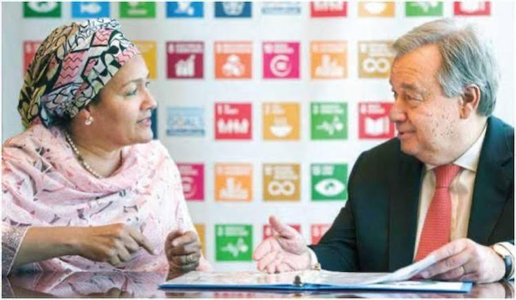 Photo: United Nations Secretary-General Mr António Guterres and Deputy Secretary-General Ms Amina Mohammed have been emphasizing the role of media in achieving SDGs. Credit: UN Photo