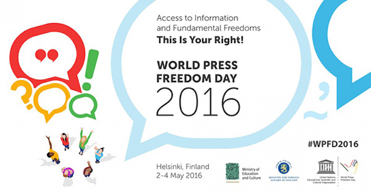 Image: World Press Freedom Day 2016 poster. Credit: UN